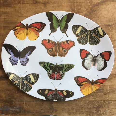 Large Oval Butterfly Melamine Tray