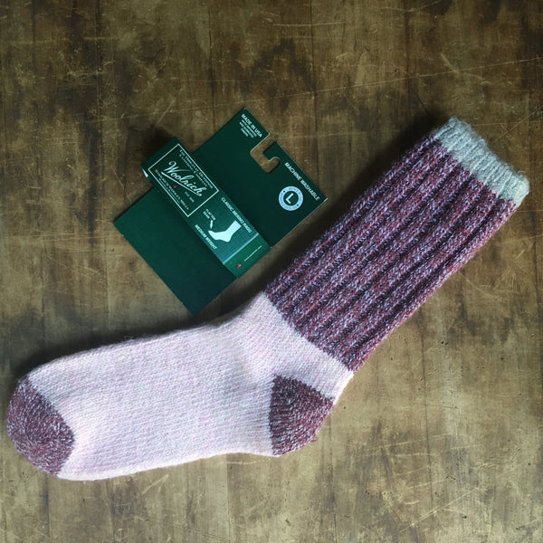 Woolrich Merino Wool Cozy Socks - Rose Pink