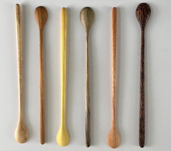 Long Handled Wooden Tasting Spoons