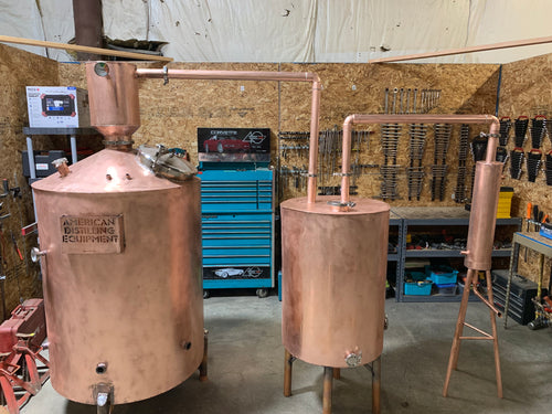 250 gallon Copper Distilling System - American Distilling Equipment