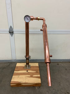 "2"" x 24"" Reflux Tower with Condensing arm - American Distilling Equipment"