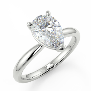 Bespoke Pear Diamond Solitaire - Rosendorff Diamond Jewellers