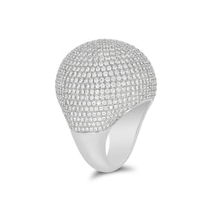 Pave Diamond Cocktail Ring 5.69carats - Rosendorff Diamond Jewellers