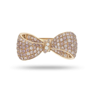Pink Bow Tie Diamond Ring - Rosendorff Diamond Jewellers