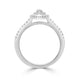 Double Halo Pink Marquise Diamond Ring - Rosendorff Diamond Jewellers