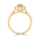 Natural Yellow-Orange Cushion Trilogy Ring - Rosendorff Diamond Jewellers
