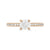Rose Gold 0.50ct Round Brilliant Four Claw Solitaire