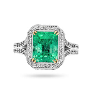 Colombian Emerald and Diamond Ring - Rosendorff Diamond Jewellers