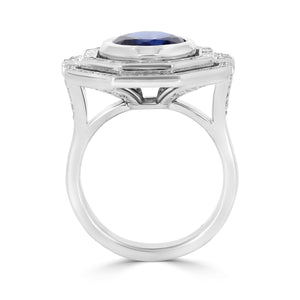 Art Deco Sapphire & Diamond Ring - Rosendorff Diamond Jewellers
