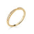 Bow-Tie Pave Set Band in Yellow Gold