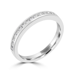 Channel Set Wedding Band 0.20ct - Rosendorff Diamond Jewellers