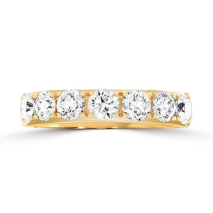 Diamond Claw Set Yellow Gold Band 1.28ct - Rosendorff Diamond Jewellers