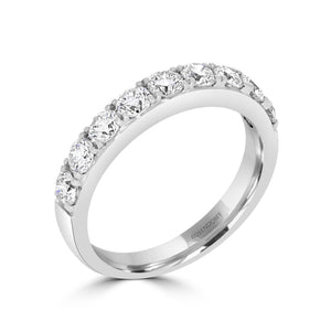 Diamond Claw Set White Gold Band 0.85ct - Rosendorff Diamond Jewellers