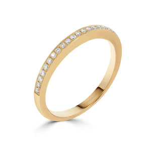 Pave Set 0.15ct Diamond Band in Yellow Gold