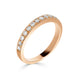 Pave Set 0.35ct Diamond Band in Rose Gold