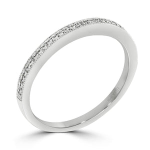 Pave Diamond Millgrain Band 0.08tcw - Rosendorff Diamond Jewellers
