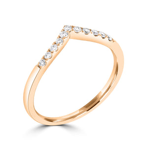 Wish Bone Diamond Wedding Band - Rosendorff Diamond Jewellers