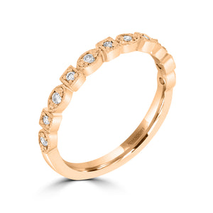 Fancy Rose Gold Diamond Ring - Rosendorff Diamond Jewellers
