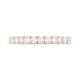 Scalloped 0.53ct Diamond Band in Rose Gold
