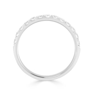 Scalloped 0.53ct Diamond Band in White Gold