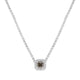 Natural Fancy Greenish Diamond Halo Pendant - Rosendorff Diamond Jewellers