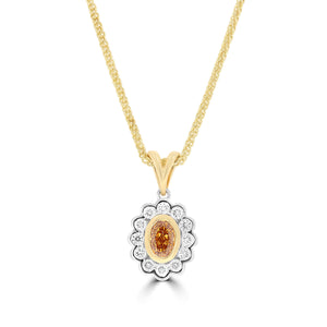 Natural Fancy Vivid Yellowish Orange Pendant - Rosendorff Diamond Jewellers