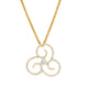 Fancy Swirl Diamond Pendant in Yellow Gold
