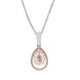 Pink Argyle Pear Cut Diamond Floating Halo Pendant