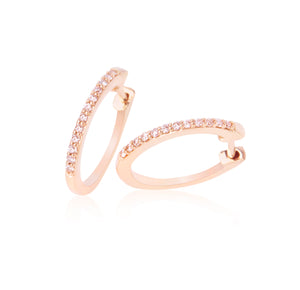 Eminence Pinks Diamond Claw Set Hoops
