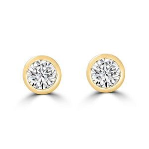 Bezel Diamond Stud Earrings 0.50tcw - Rosendorff Diamond Jewellers