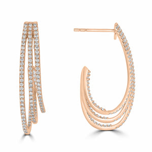 Rose Gold Diamond Hoop Earrings - Rosendorff Diamond Jewellers