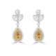 Natural Fancy Deep Yellow-Orange Earrings