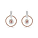 Argyle 0.119ct Pink Diamond Pear Halo Drop Earrings