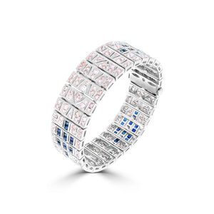 Argyle Pink Diamond & Sapphire Cuff - Rosendorff Diamond Jewellers