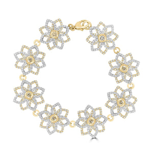 Blossom Yellow Diamond Link Bracelet - Rosendorff Diamond Jewellers