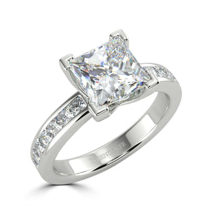 Bespoke Princess Cut Diamond Ring - Rosendorff Diamond Jewellers