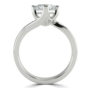 Bespoke Princess Twist Solitaire - Rosendorff Diamond Jewellers