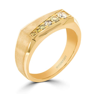 Yellow Diamond Signet Ring - Rosendorff Diamond Jewellers
