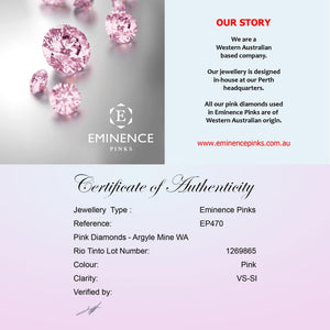 Eminence Pinks Diamond Heart Earrings - Rosendorff Diamond Jewellers