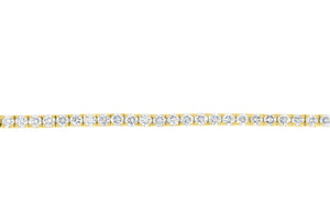 Yellow Gold Timeless Diamond Tennis Bracelet 2.88tcw
