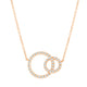 Circle of Life Links Necklace in Rose Gold