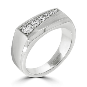 Signet Diamond Gents Ring - Rosendorff Diamond Jewellers