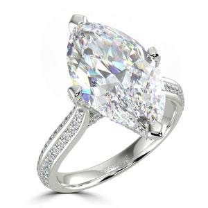 Bespoke Marquise Diamond Solitaire - Rosendorff Diamond Jewellers