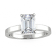 Bespoke Yolanda Emerald Cut Solitaire - Rosendorff Diamond Jewellers