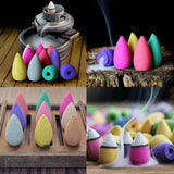 10/20/50pcs Natural Back Flow Incense Cones