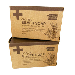 Silver Soap, Organic Charcoal Tea Tree, 4 Oz