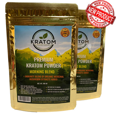 Morning Blend with Added Immunity Blend of Medicinal Mushrooms (100 Grams)