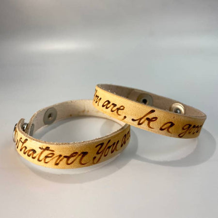 Whatever You Are Be a Good One Leather Inscribed Bracelet
