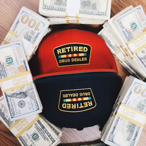 """Retired Drug Dealer"" Snapback (Red)"