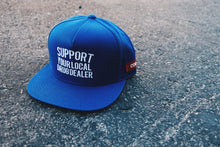 "Load image into Gallery viewer, ""Support Your Local Drug Dealer"" Snapback in Royal"